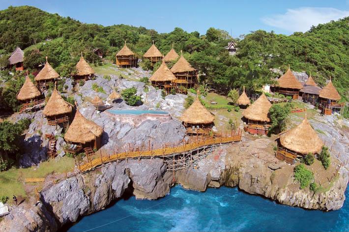帕里小屋度假村(Paree Hut Resort)富有层次感的房间