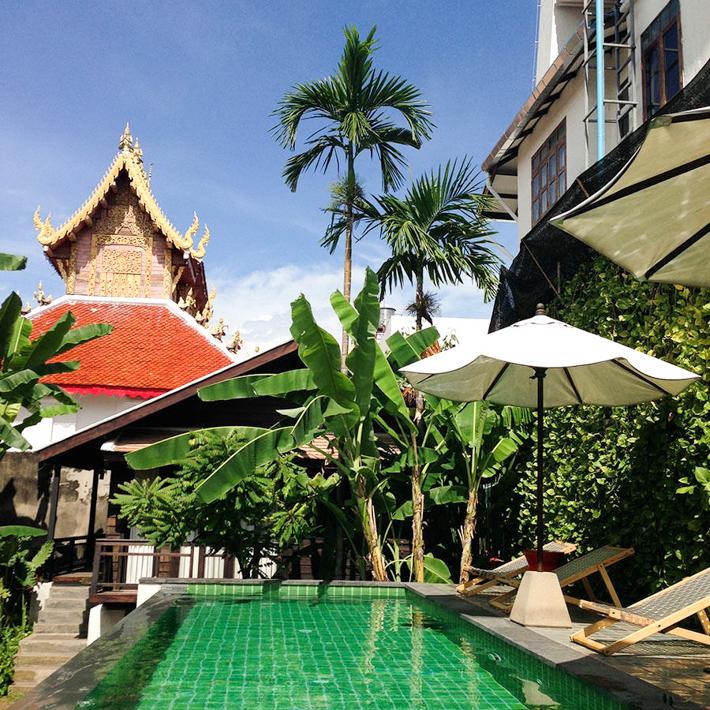 Baan Saen Fang,闹中取静的清迈兰纳风情私密别墅酒店