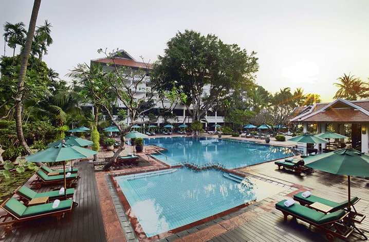曼谷安纳塔拉河畔水疗度假村游泳池
