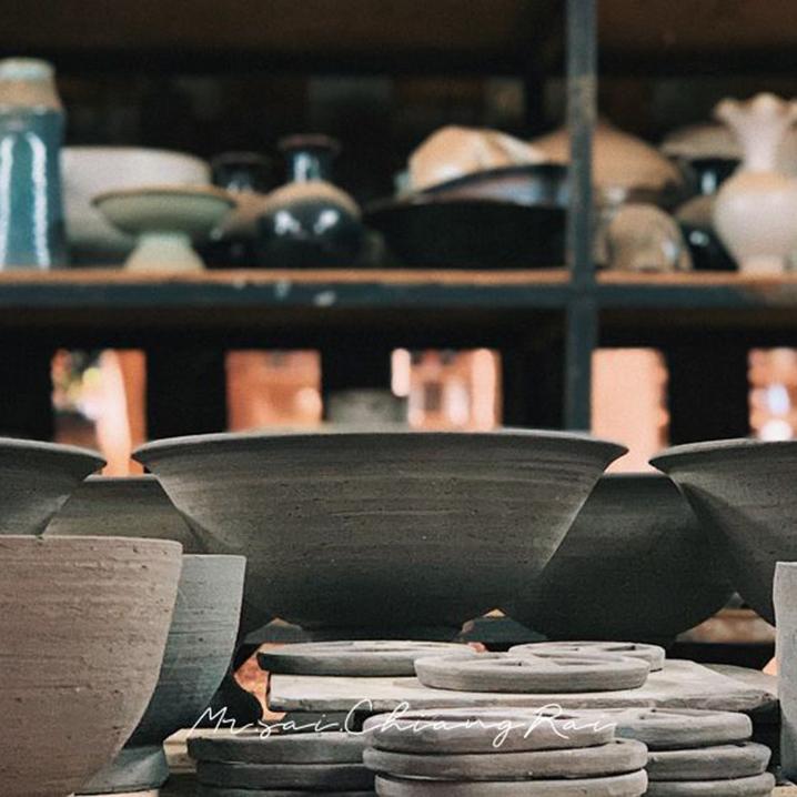 清莱Doy Din Dang Pottery陶艺工作坊,独它藏在山里却遍布泰国
