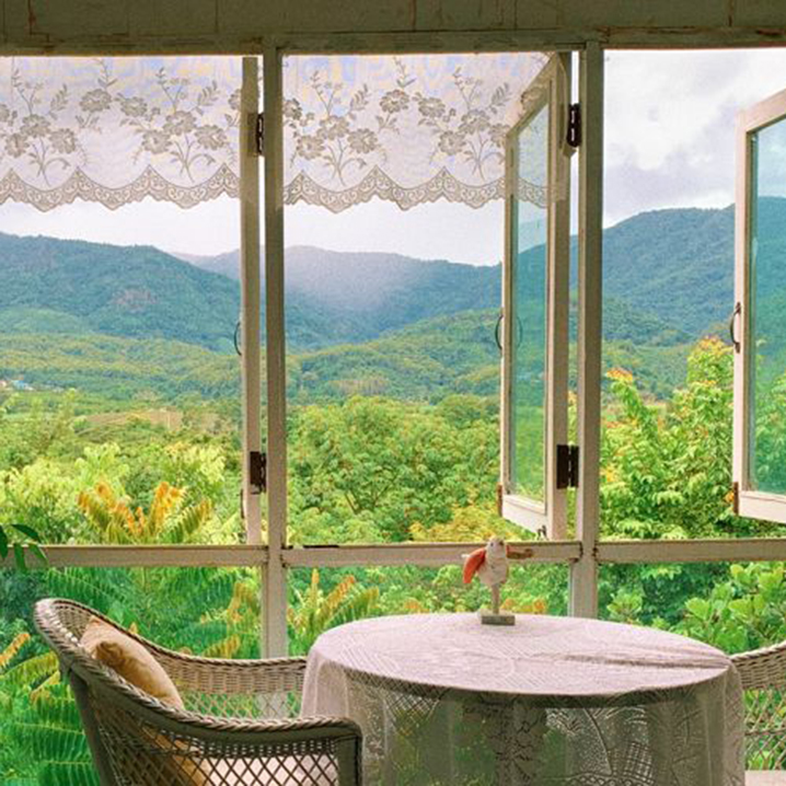 清莱Hacienda咖啡馆餐厅,坐在山中豪宅等着女仆煮咖啡