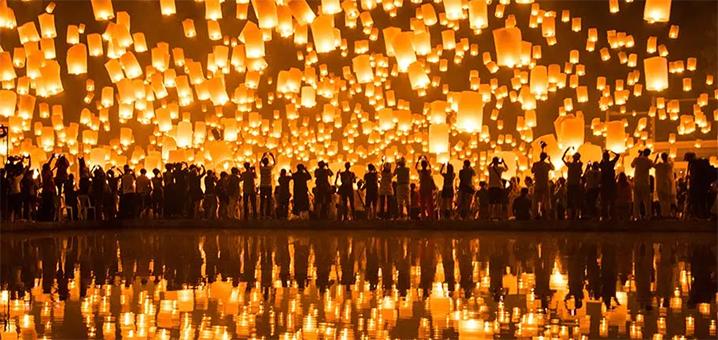 2019泰国水灯节 | 一场万盏天灯的约会,和光棍节说拜拜!