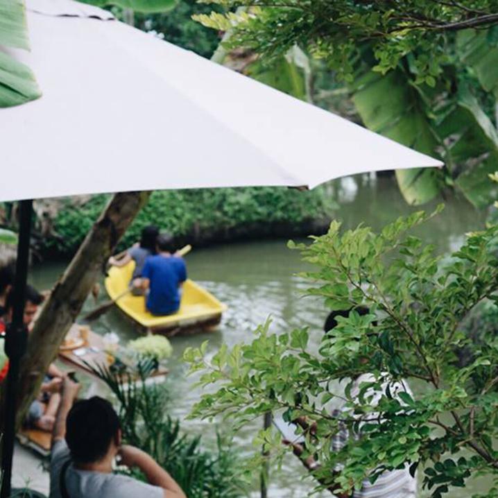 在泰国喝咖啡也能玩出新花样,乘船喝、上树喝...不要太爽