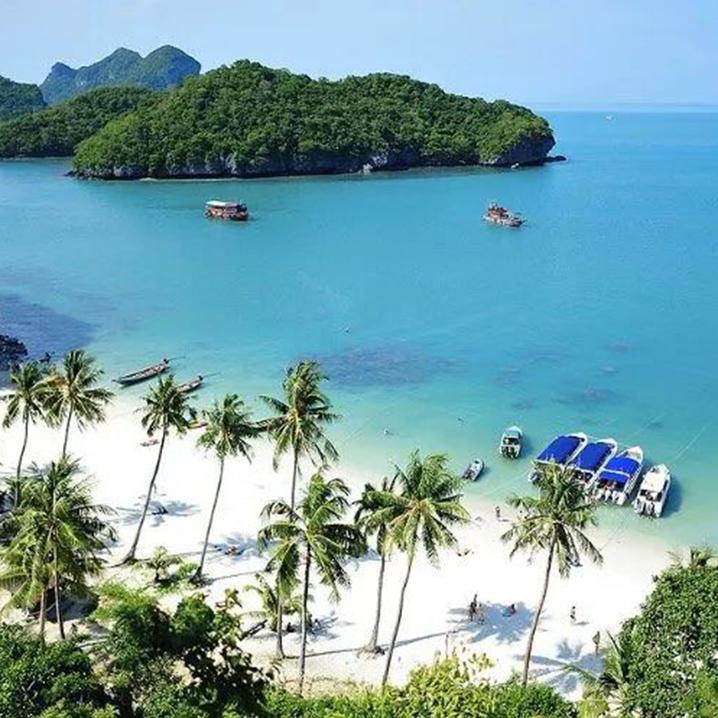 相约泰国海岛素叻他尼府,海水、沙滩、岛屿、夕阳