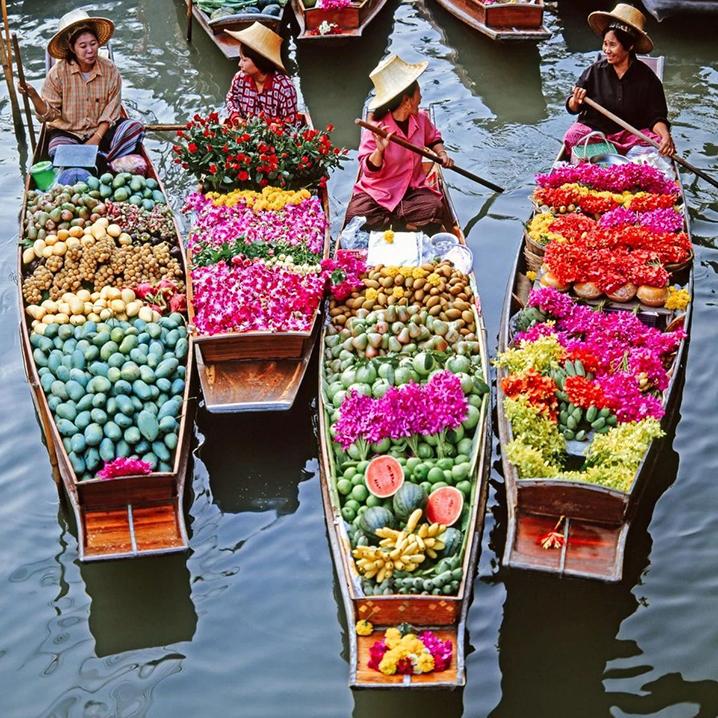 原谅我没见过世面,这赤橙黄绿青蓝紫的泰国,真是绝了
